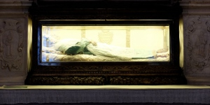 Santa Zita died in 1278 but her body has remained incorrupt for centuries