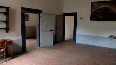 The monk's cells at Calci all had two rooms and a garden