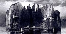 220px-Arnold_Böcklin_-_Die_Toteninsel_-_Version_4_sw