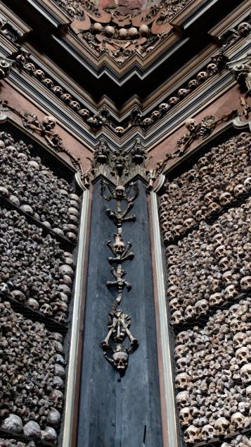 Milan San Bernardino alle Ossa skulls bones ossuary