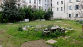 an abandoned sarcophagus